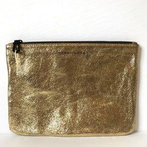 MARC JACOBS gold leather metallic pouch EUC